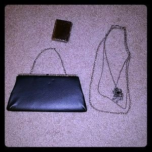 Beautiful goth lot vintage clutch purse necklace
